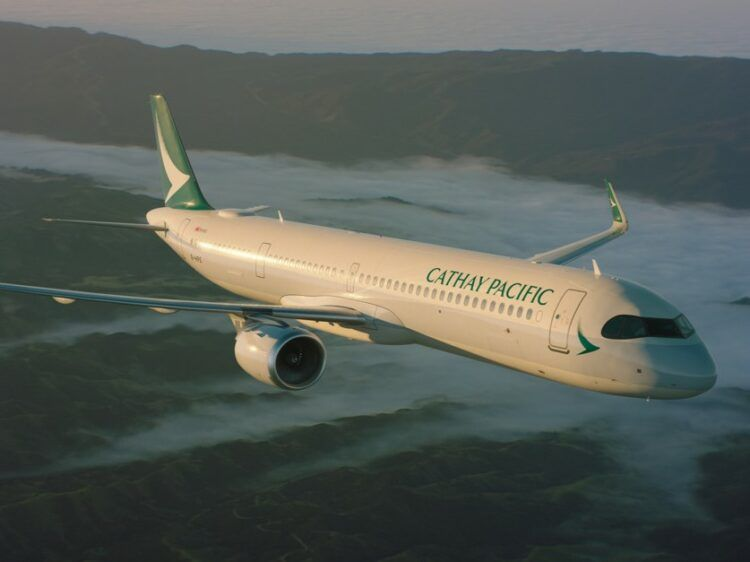 Cathay Pacific Flugzeug Airbus A321neo Copyright