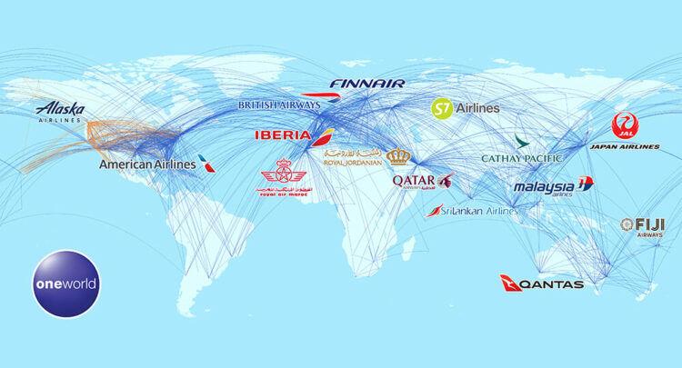 Oneworld Verbindungen Karte Copyright Oneworld