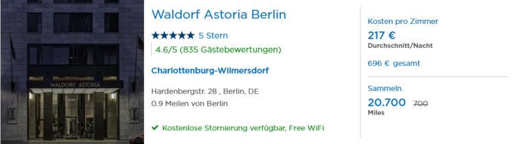Pointshound Miles And Smiles Bonus Waldorf Astoria Berlin