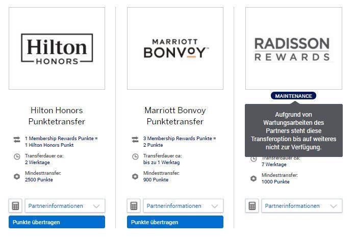 Radisson Transfer Ausgesetzt