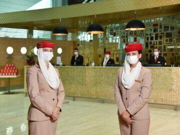 Wiedereroeffnung Emirates First Class Lounge Dubai Concourse B Empfang Copyright