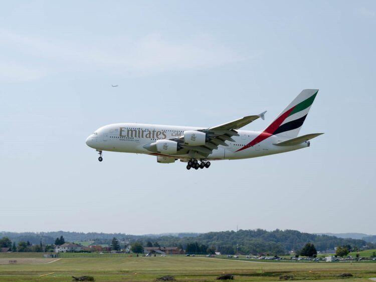 Emirates A380 Zürich Airport