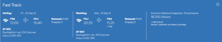 Eurowings Discover Meilenschnaeppchen Frankfurt Punta Cana