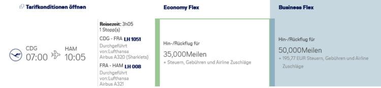 Miles And More Praemienflug Lufthansa Hamburg Frankfurt Paris