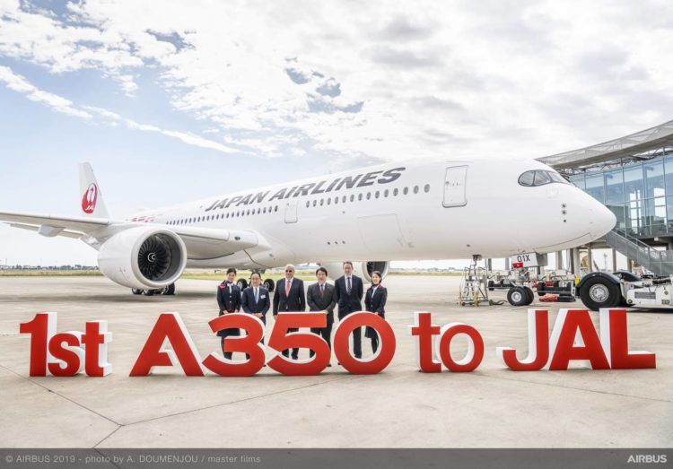 a350 900 japan airlines delivery copyright