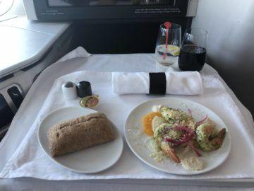 air canada business class boeing 777 garnelen