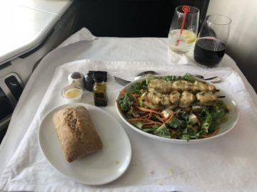 air canada business class boeing 777 gruenkohl salat