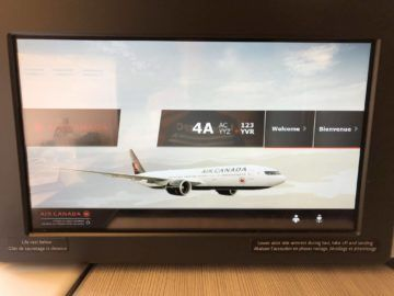 air canada business class boeing 777 monitor