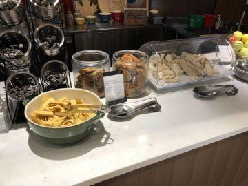 air canada maple leaf lounge calgary cookies tortillas