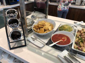 air canada maple leaf lounge vancouver nachos dipp