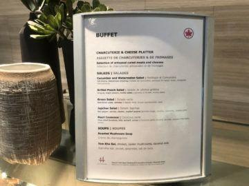 air canada signature suite toronto buffet auswahl