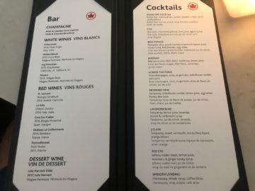 air canada signature suite toronto cocktails