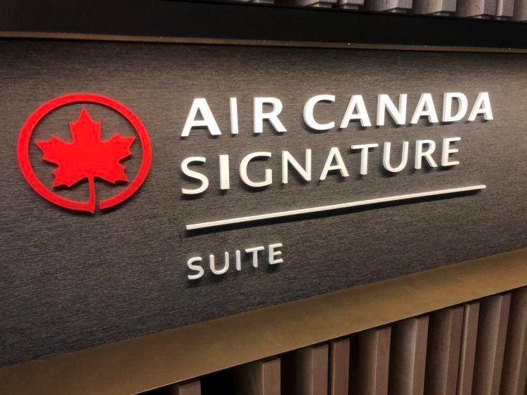 air canada signature suite toronto signature logo