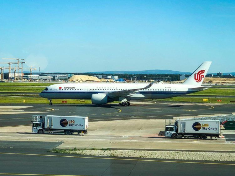 air china a350 flugzeug frankfurt flughafen