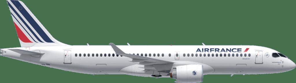 Der Airbus A220 im Air France Gewand © Air France