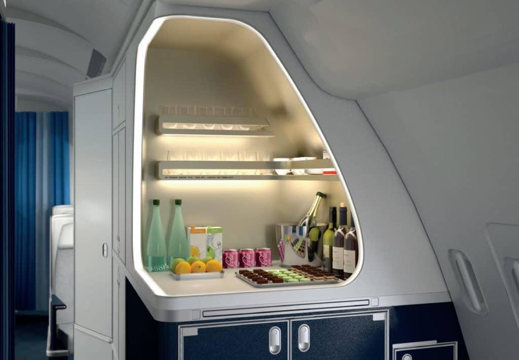 Selbstservice-Bar im A330 von Air France © Air France