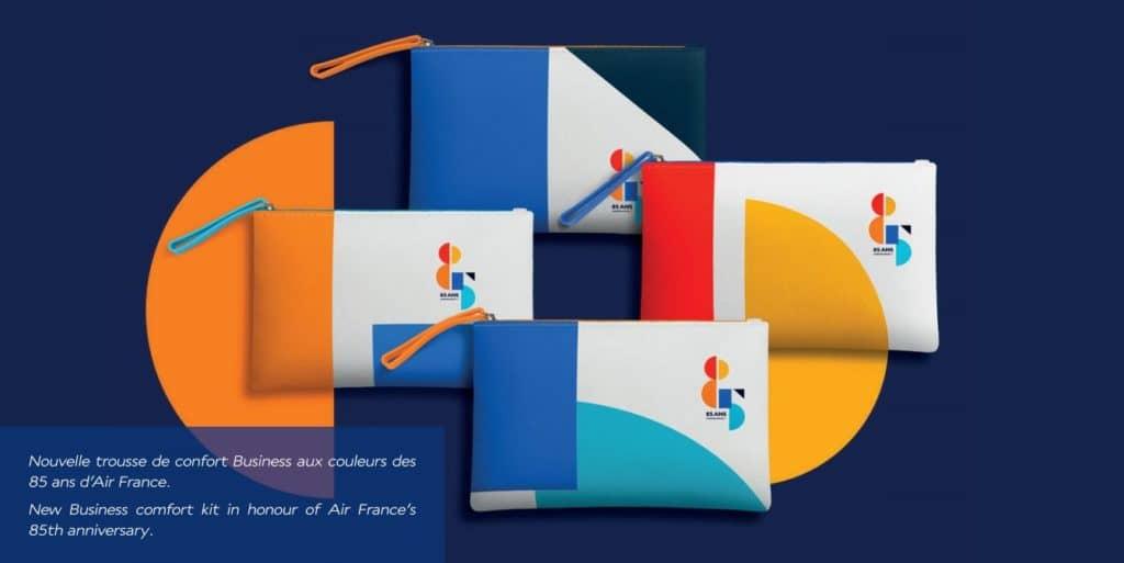 Die neuen Amenity Kits zum 85 jährigen Jubiläum © Air France