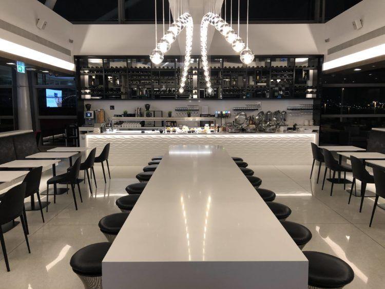 air new zealand brisbane international lounge buffet bereich