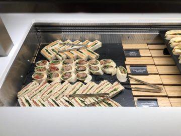 air new zealand brisbane international lounge sandwiches wraps