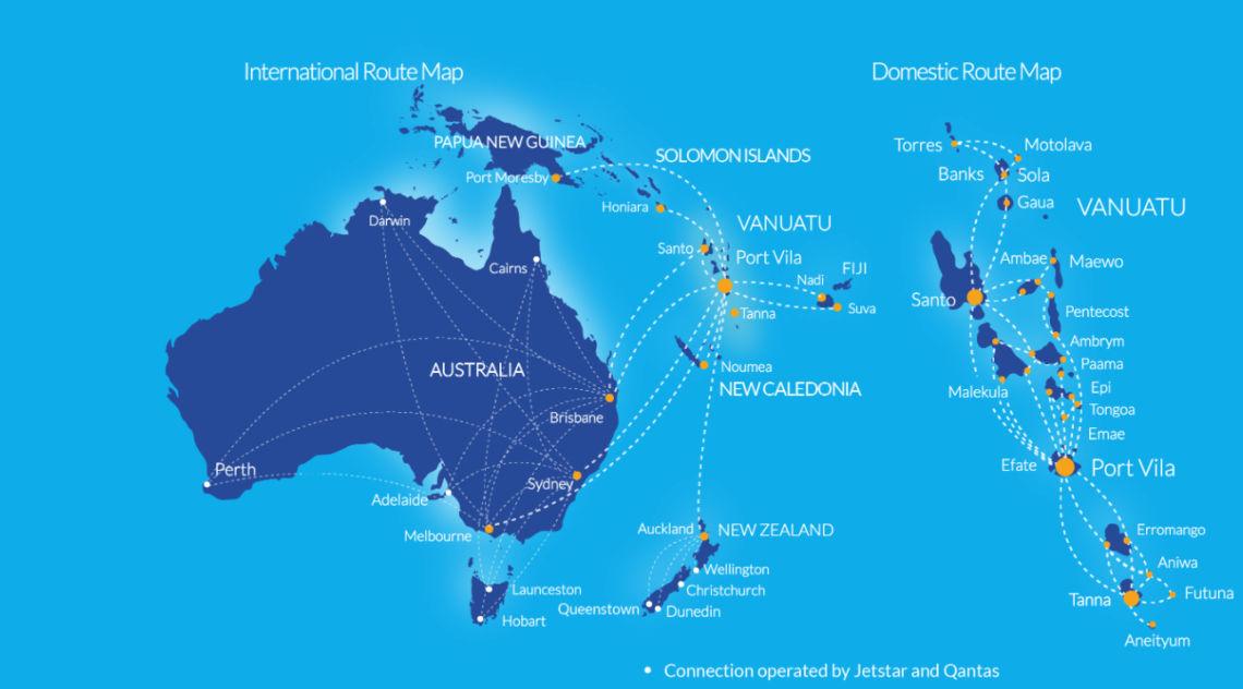 Air Vanuatu Streckennetz