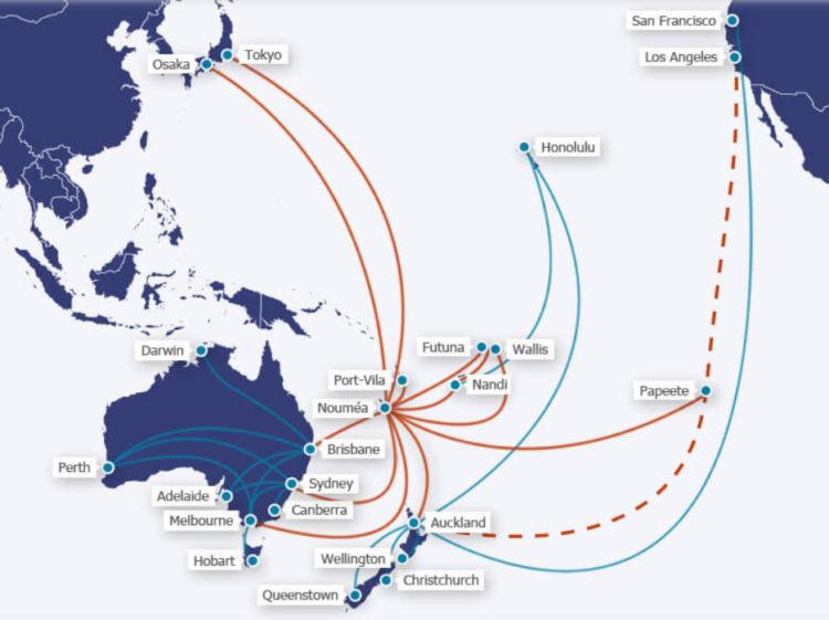 Aircalin Streckennetz