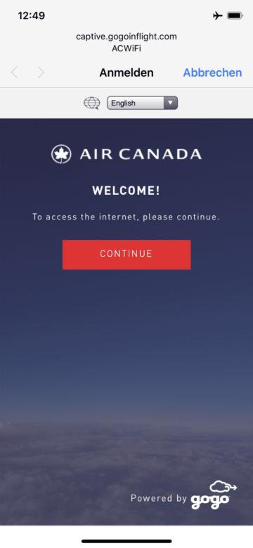aircanada business class boeing 777 wifi