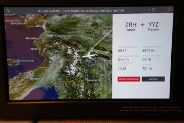 aircanada business class boeing 777 zrh to yyz