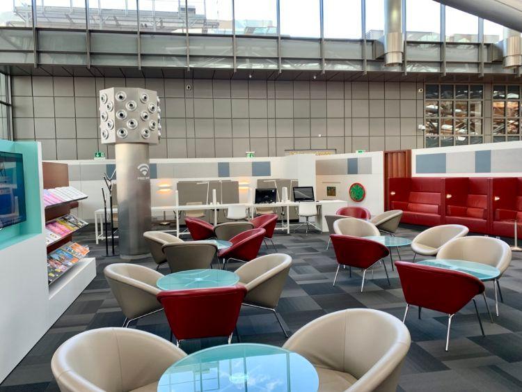 airport lounge hamburg sitzecke