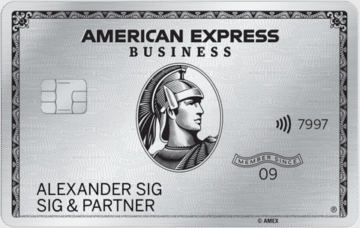 100.000 Punkte (80.000 Meilen) mit der American Express Platinum Business Kreditkarte