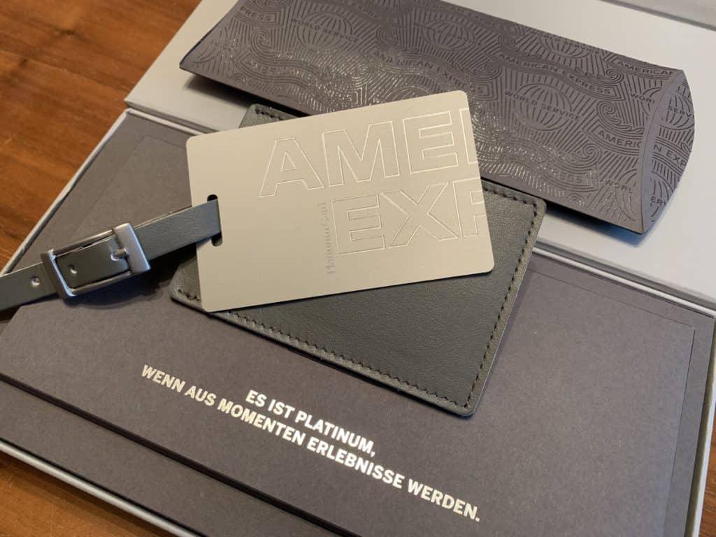 Willkommenspaket der American Express Platinum Kreditkarte