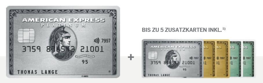 Die American Express Platinum Zusatzkarten