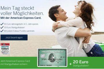 american express gruen kreditkarte euro