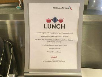 americanairlines admiralsclub londonheathrow menuekarte