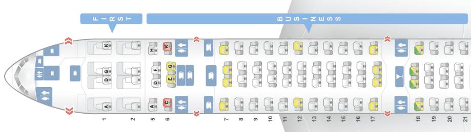 ana business class boeing 777-300 seatmap seatguru