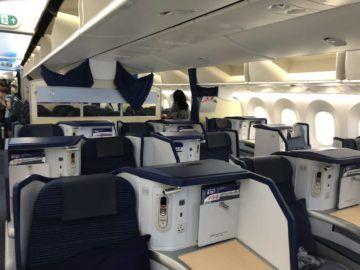 ana business class b787 9 kabine