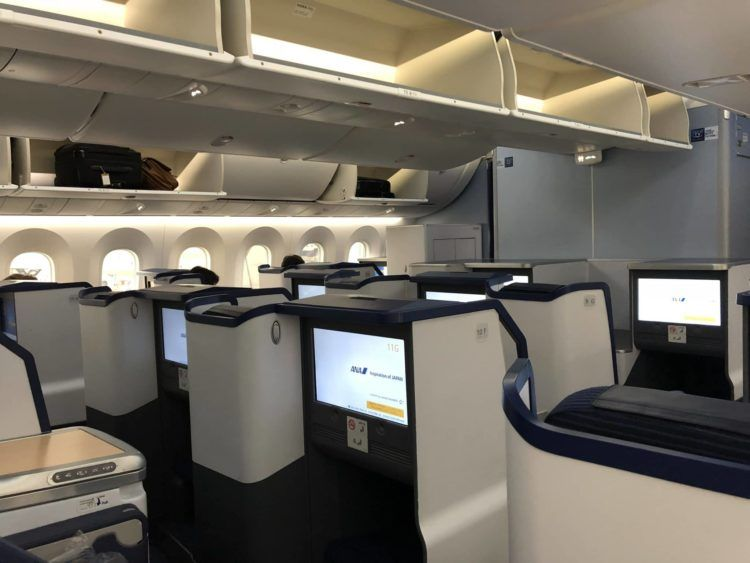 ana business class b787 9 kabine von hinten