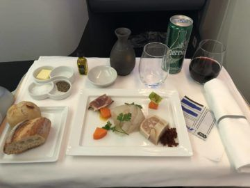 ana business class b787 9 vorspeise