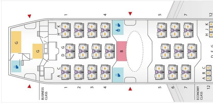 ana business class boeing 787 8 seatmap