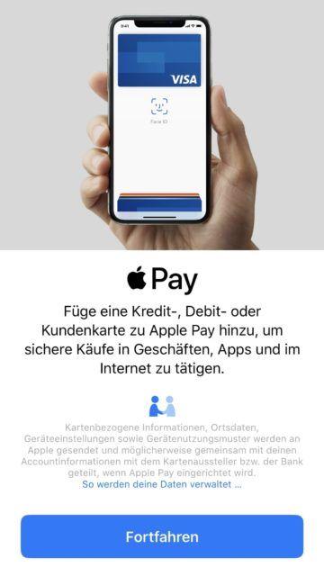 apple pay meilen sammeln 3