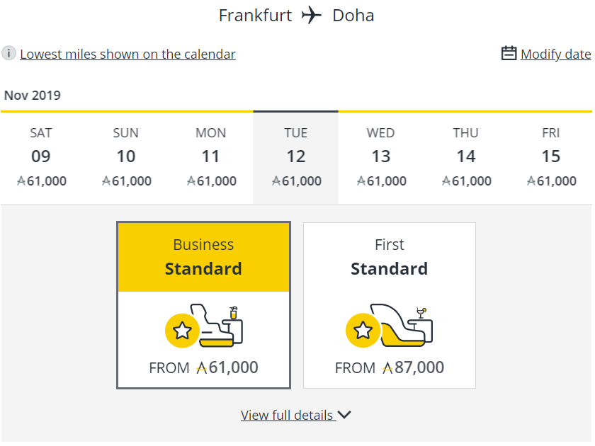 Neuer Meilenpreis bei Asia Miles für Frankfurt - Doha