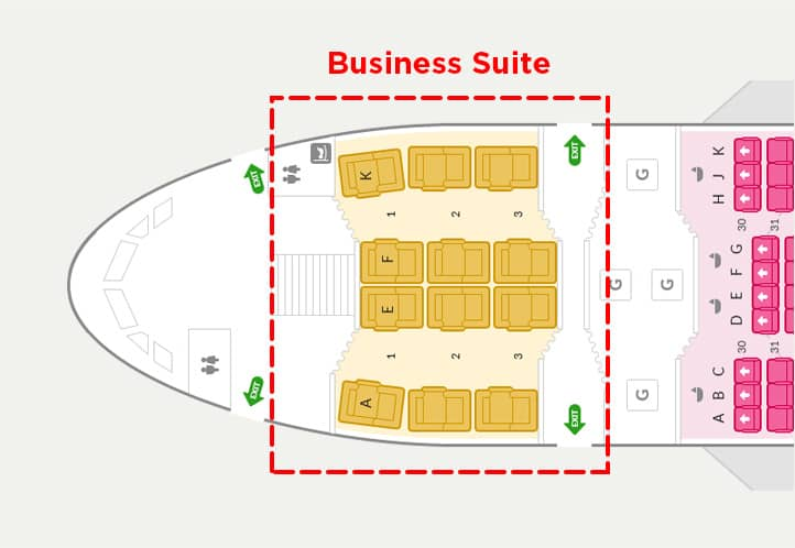 Die neue Asiana Business Suite im A380 &copy Asiana