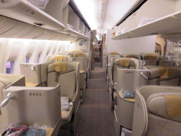 asiana business class smartium boeing 777 kabine 1