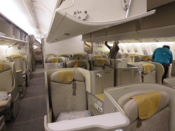 asiana business class smartium boeing 777 kabine 2