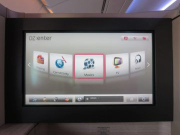 asiana first class a380 entertainment system 1