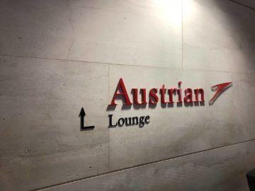 austrian airlines business class lounge wien terminal d logo