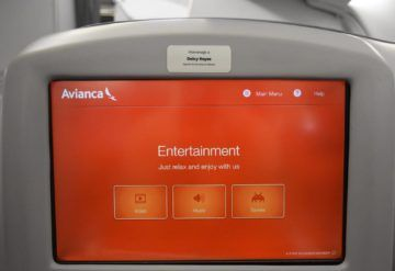 avianca a330 entertainment hautpmenue