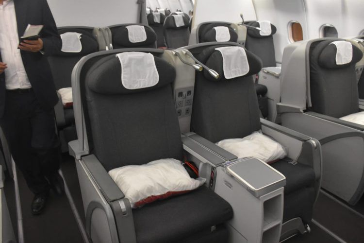 avianca business class kabine a330 mittelreihe