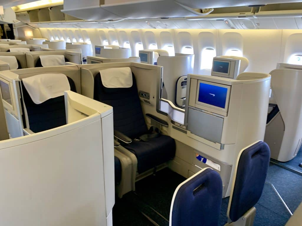british airways business class boeing 777 200 kabine