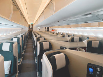 cathay pacific business class a350 1000 kabine 1