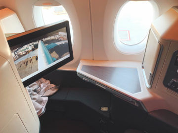 cathay pacific business class a350 1000 sitz 12